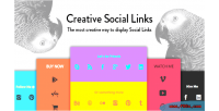Creative social links wordpress widget visual on add composer