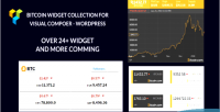 Crypto bitcoin crypto currency widget for collection wordpress a composer visual