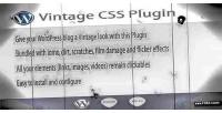 Css vintage wordpress plugin