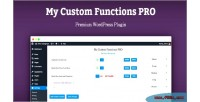 Custom my functions pro
