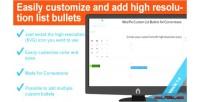 Custom weepie list cornerstone for bullets