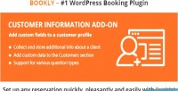 Customer bookly information on add