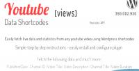 Data youtube api plugin wordpress shortcodes