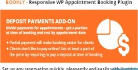 Deposit bookly payments on add