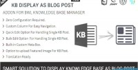 Display as blog post addon base knowledge display