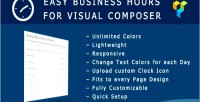 Easy business hours addon composer visual for