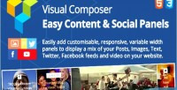 Easy content social panels composer visual for