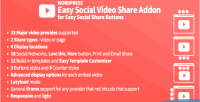 Easy social video share essb for addon