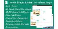 Effects hover plugin wordpress builder