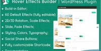 Effects hover plugin wordpress builder