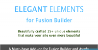 Elements elegant builder fusion for
