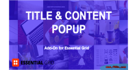 Essential grid title content on add popup