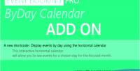 Event booking pro byday on add calendar