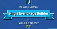 Events the calendar builder single page event