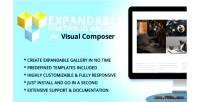 Expandable portfolio gallery addon composer visual for