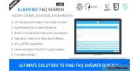 Faq ajaxified search addon faq advanced