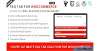 Faq tab for woocommerce addon faq advanced