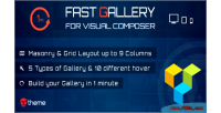 Fast gallery for visual plugin wordpress composer