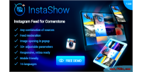 Feed instagram instashow extension cornerstone