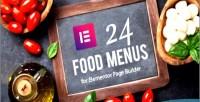 Food restaurant menus builder for page elementor