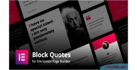 For blockquotes builder page elementor