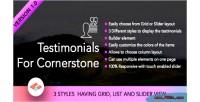 For testimonials cornerstone