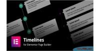 For timelines builder page elementor