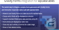 Forms gravity wpdatatables for integration