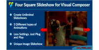 Four squared image slideshow composer visual for