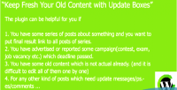 Fresh your old content boxes update with fresh