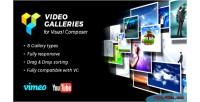 Galleries video for plugin visual wordpress composer