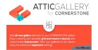 Gallery attic cornerstone element
