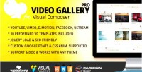 Gallery video pro addon jquery composer visual for
