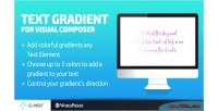 Gradient text composer visual for