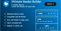 Header ultimate builder addon wpbakery builder page formerly composer visual