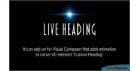 Heading live composer visual for