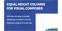Height equal columns composer visual for