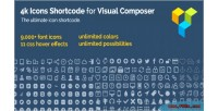 Icon 4k fonts composer visual for