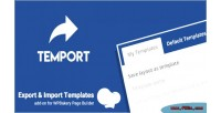Import export template wpbakery for temport builder page