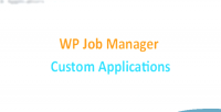 Job wp application custom manager