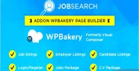 Jobsearch wp plugin short codes for addon wp bakery plugin builder page