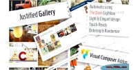 Justified gallery image grid composer visual for