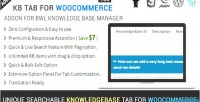 Kb tab for woocommerce addon base knowledge