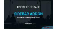 Knowledge pressapps base addon sidebar contextual