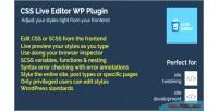 Live css plugin wordpress editor