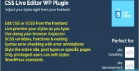 Live css plugin wordpress editor
