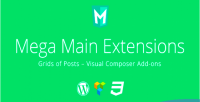 Main extensions grids of addons vc posts main