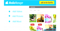 Manager media for userpro