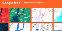Map google addon composer visual for