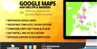 Maps google with multiple addon markers for builder page wpbakery